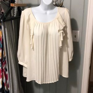Jack cream pleated blouse size medium